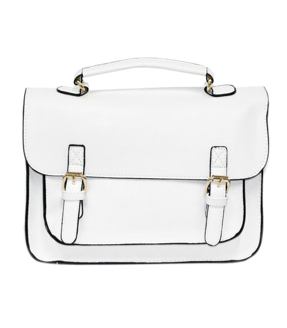 Shoulder bag postman white