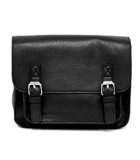 Messenger Mini Satchel Bag (Black)
