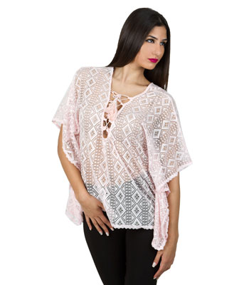 Mesh lace pink