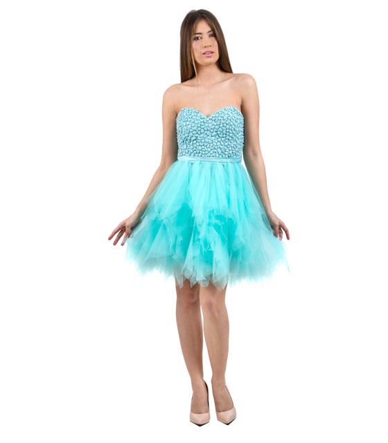 Tutu στράπλες βεραμάν φόρεμα με τούλινη φούστα
