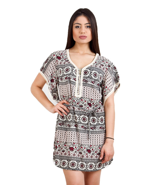 Multicolo print dress