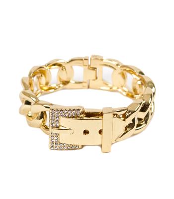 Bracelet belt faux gold metallic