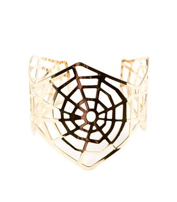 Metallic web bracelet