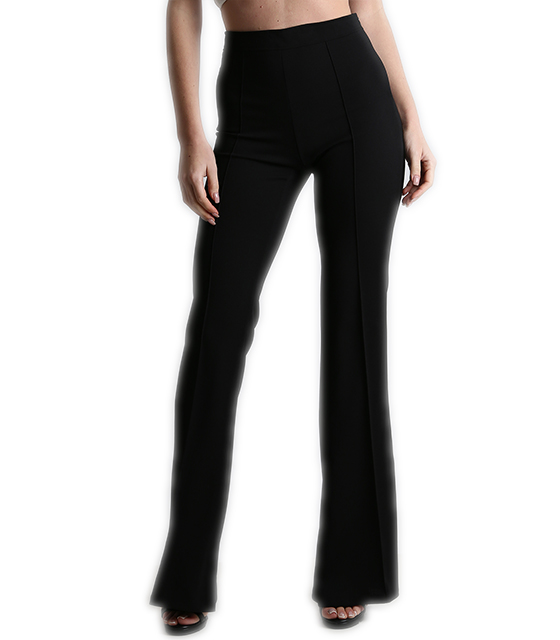 Tailored high weisted flare trousers black
