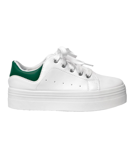 Sneaker white with green details