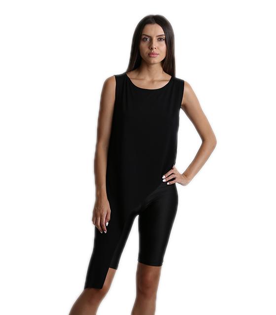 Ασύμμετρη μπλούζα μαύρη