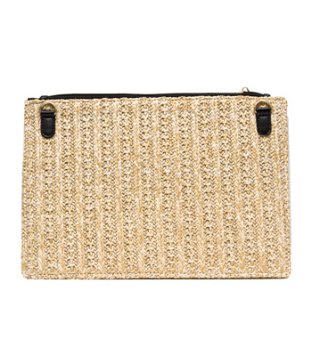 Bag envelope wicker beige