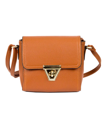 Cross body camel bag
