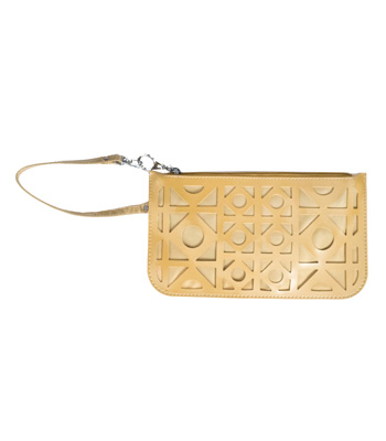 Wallet gold with zip