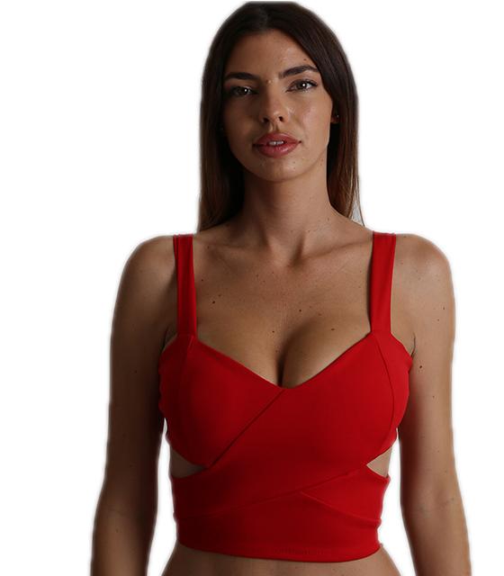 Μπούστο κόκκινο με τιράντα ελαστικό ρούχα   μπλούζες   top   τοπάκια   μπουστάκια