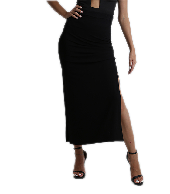 Highweisted maxi skirt black