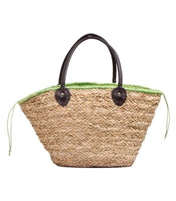 Beach bag with green details