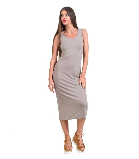 Maxi dress beige