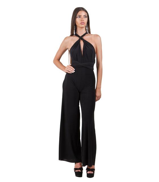 Πολυμορφική ολόσωμη φόρμα μαύρη ρούχα   ολόσωμες φόρμες