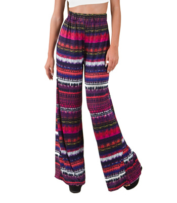 Bohemian wide trousers
