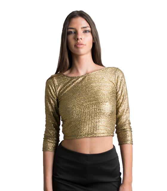 Μεταλλικό χρυσό μπλουζάκι