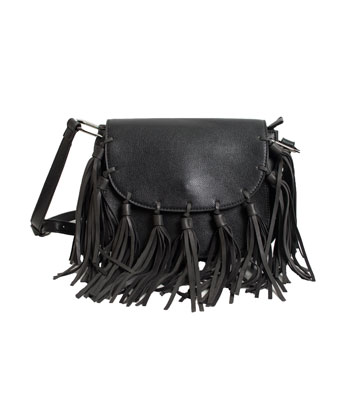 Fringed shoulder bad (Black)