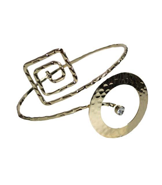Geometric shapes cuff bracelet
