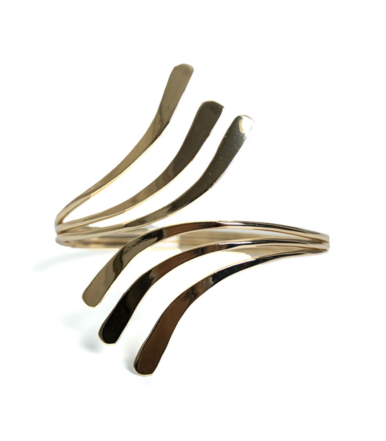 Parallel lines cuff bracelet