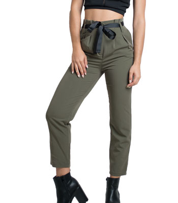 Belted trousers (Chaki)