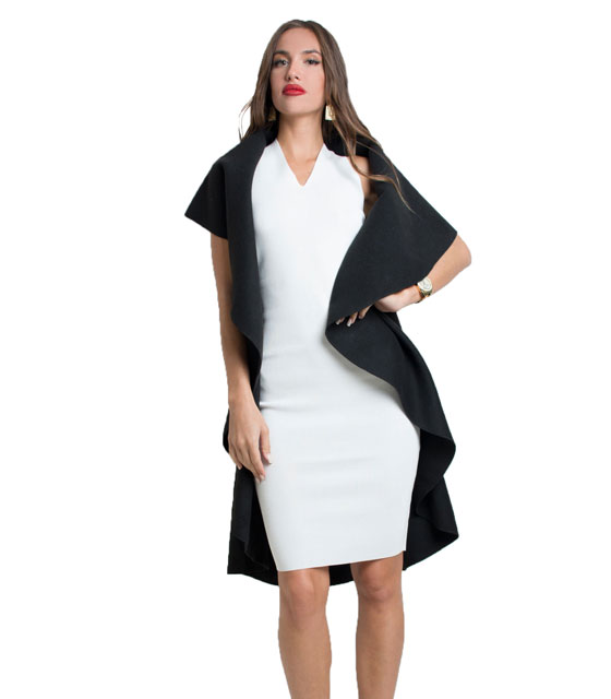 Sleeveless coat (Black)