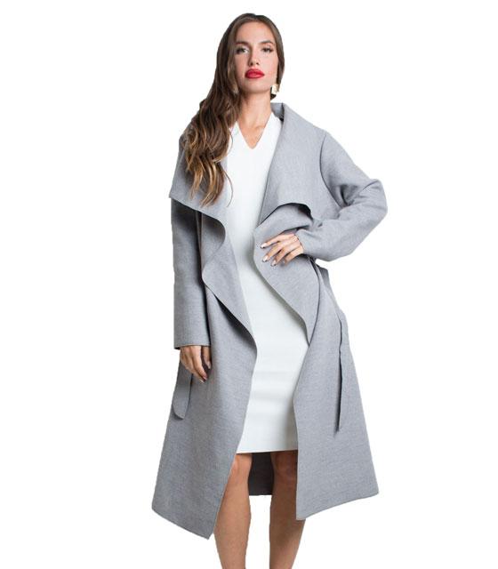 Παλτό με ζώνη Γκρι ρούχα   πανωφόρια   σακάκια   παλτό