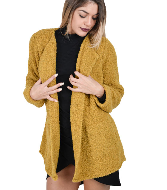 Boucle cardigan Yellow