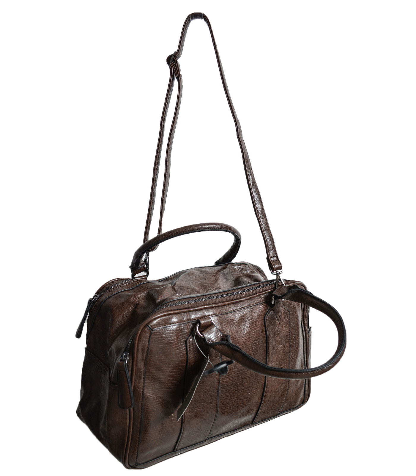 Fox leather bag (Brown)