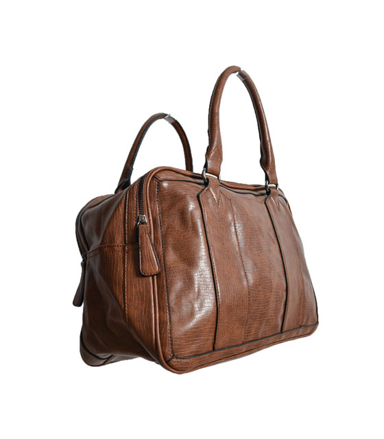 Fox leather bag (Light brown)