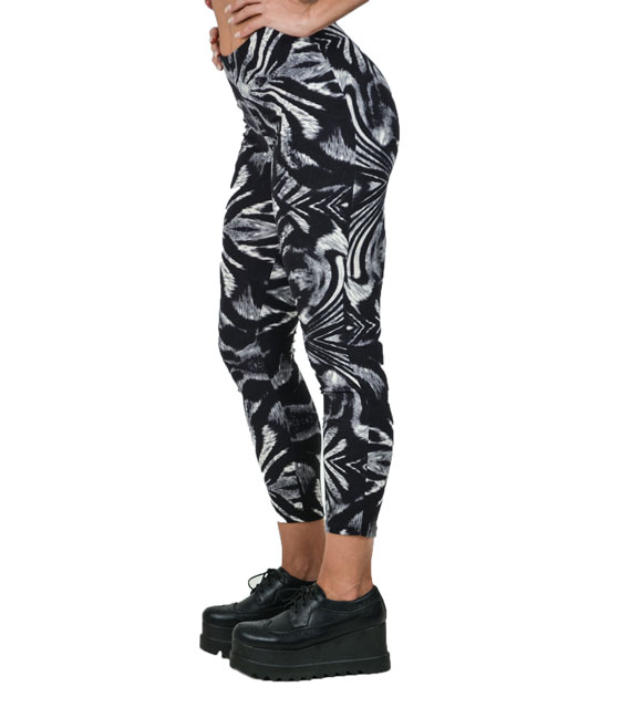 Leggings tiger print black