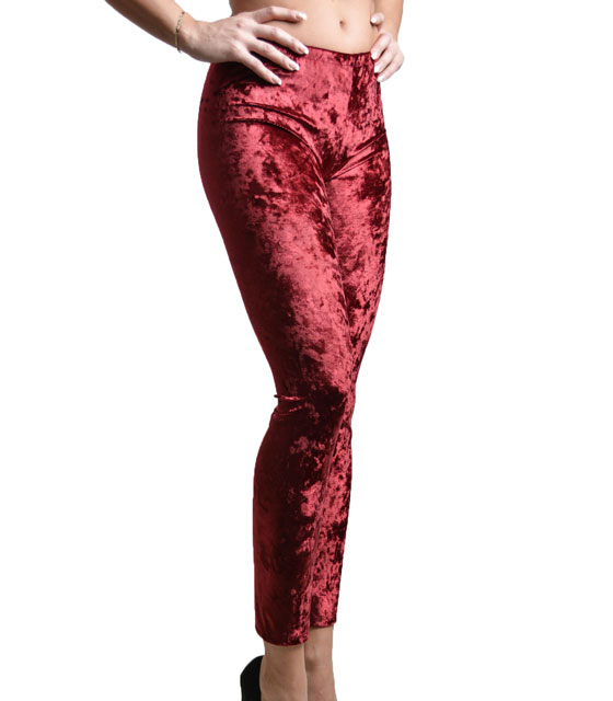 Velvet leggings (Burgundy)