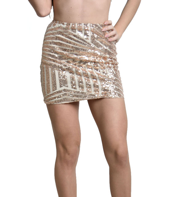 Beige sequin skirt