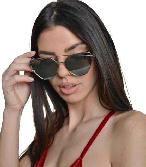 Γυαλιά ηλίου με ασημί καθρέφτη αξεσουάρ   γυαλιά ηλίου