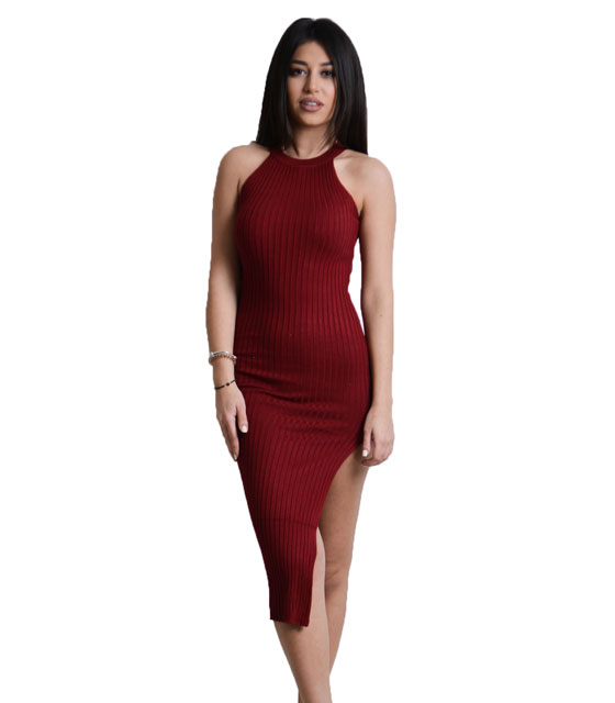 Hutler cut dress (Red)