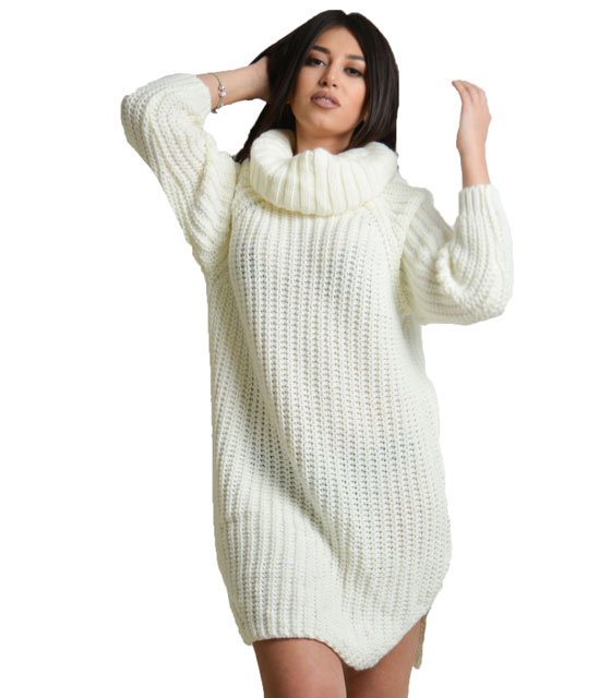 Knitted ecrou dress