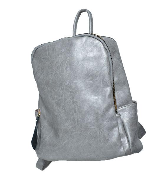 Τσάντα πλάτης με μεγάλο χρυσό φαρμουάρ Γκρι