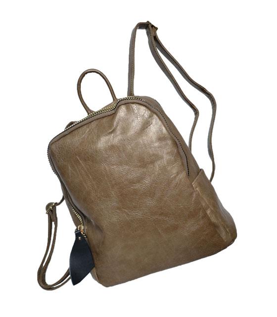 Τσάντα πλάτης με μεγάλο χρυσό φαρμουάρ Πούρο