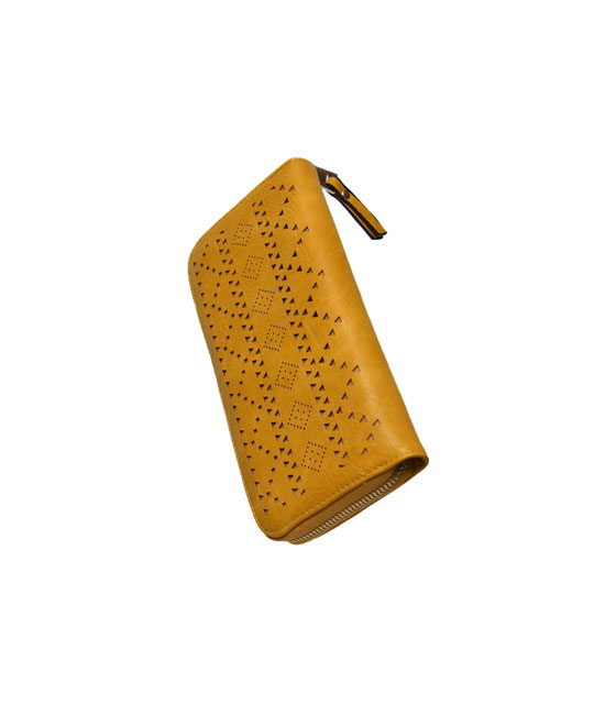 Faux leather wallet Yellow