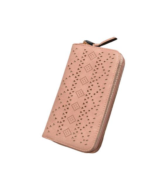Faux leather wallet Belge Pink