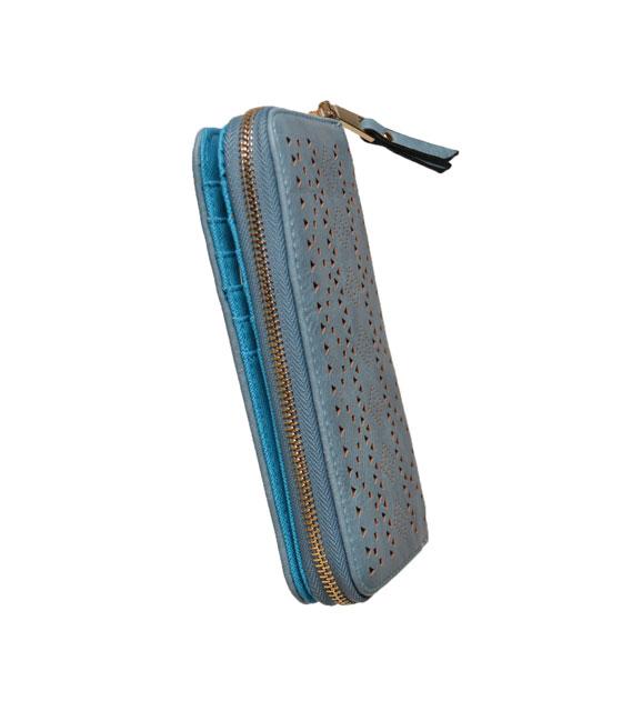 Faux leather wallet Belge Blue