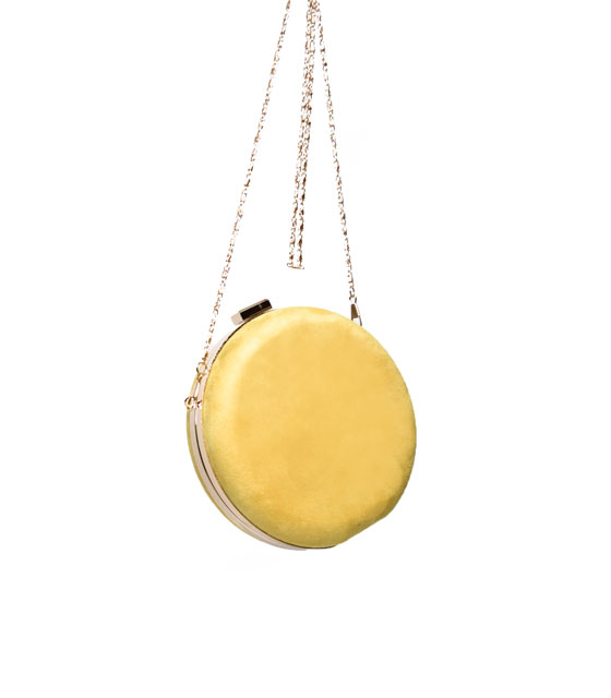 Round clutch bag ( yellow )