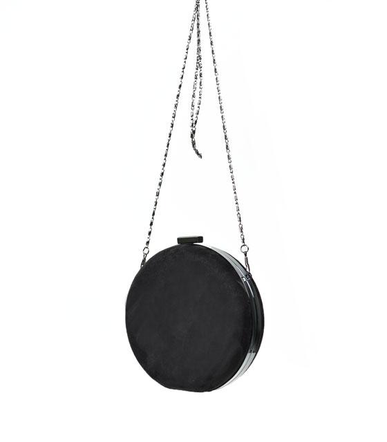 Τσάντα clutch στρογγυλό (μαύρο)