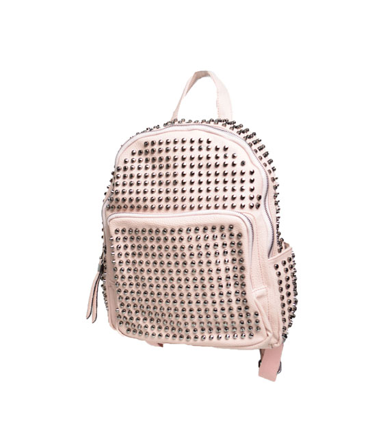 Bag with studs (pink)
