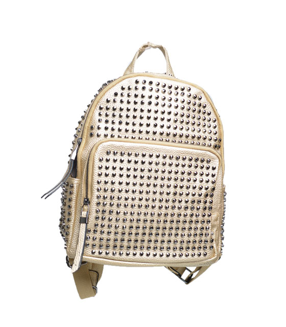 Bag with studs (gold)