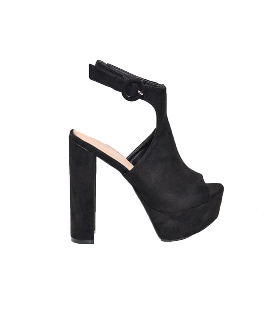 Ankle strap heeled sandals Black