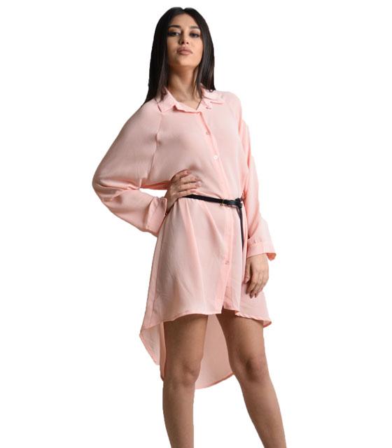 Μακρυά πουκαμίσα Ροζ