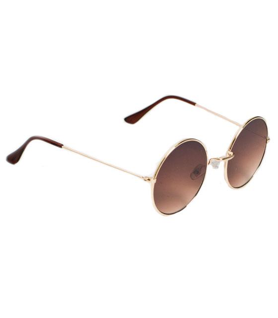 Στρόγγυλα γυαλιά ηλίου (Καφέ)