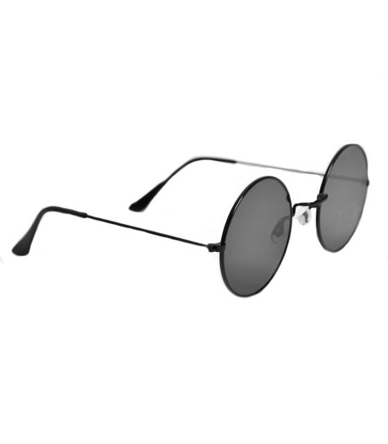 Στρόγγυλα γυαλιά ηλίου (Μαύρο)
