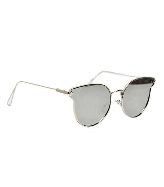 Cat-Eye με μεταλλικές λεπτομέρειες (Ασημί Καθρέφτης) αξεσουάρ   γυαλιά ηλίου