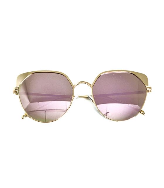 Χρυσά μεταλλικά γυαλιά ηλίου με καθρέφτη